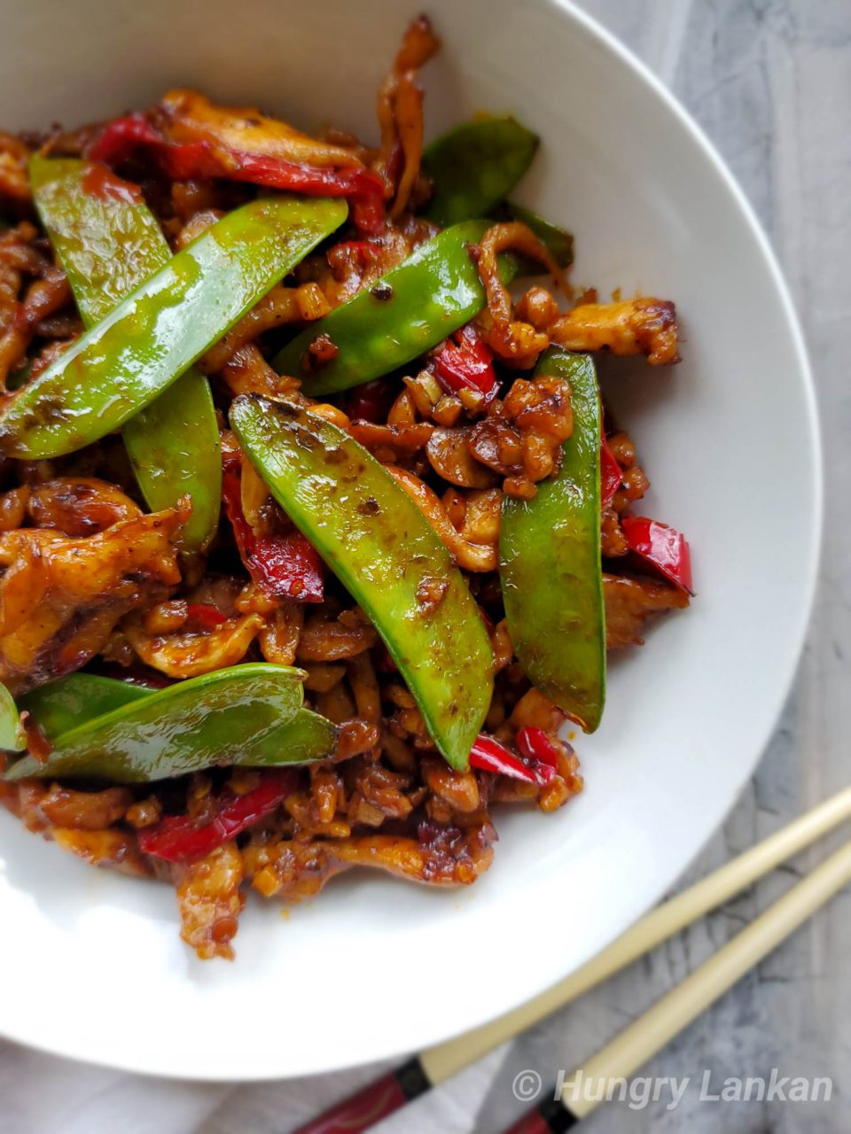 Schezwan Chicken with chili bean sauce