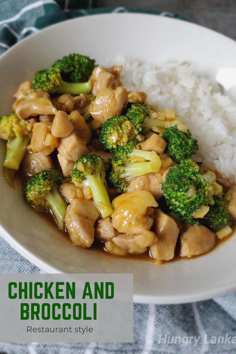 Chinese chicken and broccoli in brown sauce
